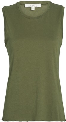 Nili Lotan Sleeveless Supima Cotton T-Shirt