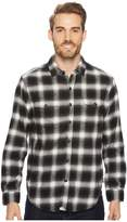 True Grit Redford Plaid Long Sleeve Two-Pocket Shirt with Chambray and Stitch Detail