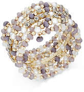 INC International Concepts Gold-Tone Beaded Coiled Wrap Bracelet, Only at Macy's