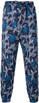 Etro floral track pants - men - Linen/Flax - 50