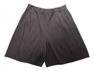 Issey Miyake Brown Synthetic Shorts