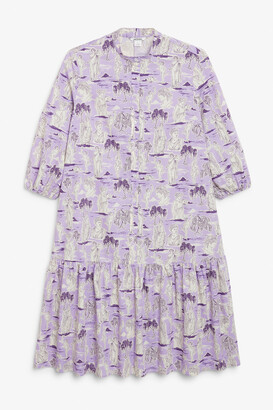 Monki Ruffle hem shirt dress