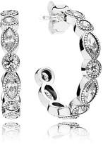 Pandora Earrings - Sterling Silver & Cubic Zirconia Alluring Hoops