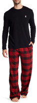 Psycho Bunny Long Sleeve Thermal & Flannel Lounge Pant Gift Set