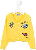Moschino Kids - face patch cardigan - kids - Cotton - 4 yrs