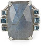 Stephen Dweck Silver Labradorite and London Blue Topaz Ring