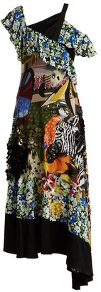 Mary Katrantzou Carmen Sequin-embellished Silk-chiffon Dress - Womens - Multi