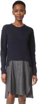 Carven Sweater Combo Dress