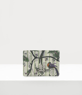Vivienne Westwood Kelly Small Credit Card Holder Bird Of Paradise Print