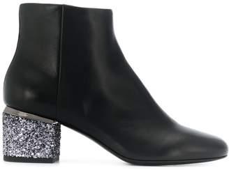 Twin-Set glitter heel boots