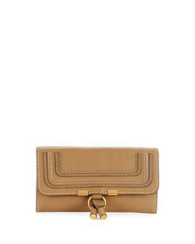 Chloé Marcie Continental Flap Wallet, Brown