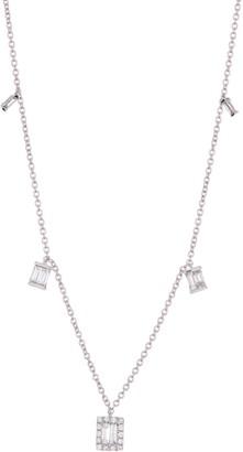 Ron Hami 14K White Gold Baguette Diamond Charm Pendant Necklace - 0.46 ctw