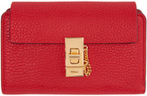 Chloé Red Drew Compact Wallet