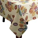 Croscill Mosaic Leaves 60-Inch x 84-Inch Tablecloth