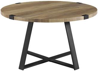 Hewson 30In Farmhouse Round Wood Coffee Table