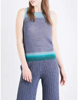 Missoni Contrast-panel sleeveless metallic-knit top