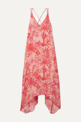 CHUFY Colca Printed Crepe De Chine Dress - Peach
