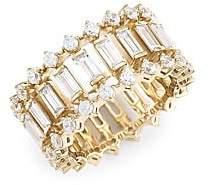 Adriana Orsini Women's 18K Goldplated & Cubic Zirconia Geometric Ring