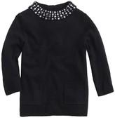 J.Crew Girls' sparkle-collar sweater