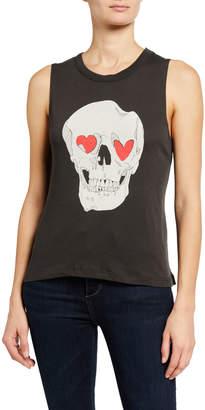 Chaser Love Skull Graphic Tank