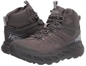 Hoka One One Stinson Mid GORE-TEX(r) (Anthracite/Mandarin Red) Men's Shoes