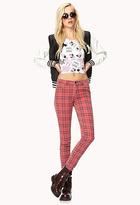 Forever 21 Grunge Plaid Skinny Jeans