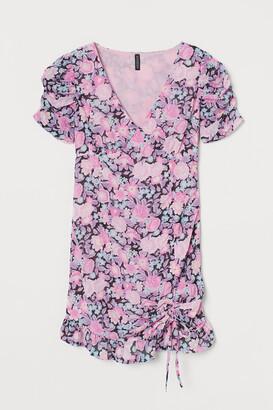 H&M Draped Chiffon Dress