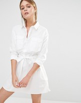 French Connection Amy Poplin Shirt Dress