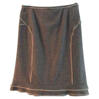 Etro Burgundy Wool Skirt for Women
