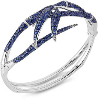 Swarovski x Stephen Webster White Gold, Diamond and Blue Sapphire Bamboo Shoots Bracelet