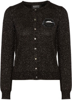 Markus Lupfer April sequined metallic wool-blend cardigan