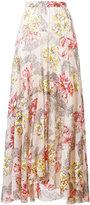 Philosophy Di Lorenzo Serafini - long floral patterned skirt - women - Silk/Cotton - 42