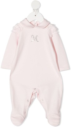 MonnaLisa Rhinestone Monogram Cotton Pajama