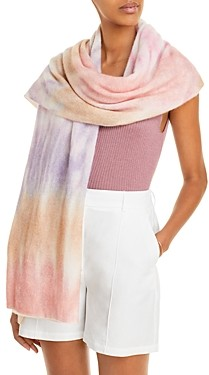 C by Bloomingdale's Tie-Dye Cashmere Travel Wrap - 100% Exclusive