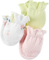 Carter's Baby Girls' Little Blooms 3-Pack Mitts
