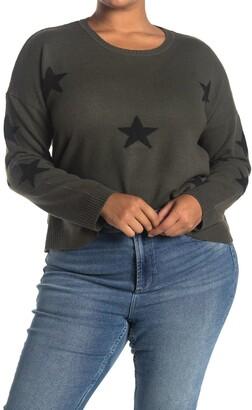 Sweet Romeo Star Intarsia Pullover Sweater