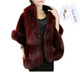Tortor 1bacha Women Ladies Party Wedding Faux Fur Stole Wrap Shawl Coat