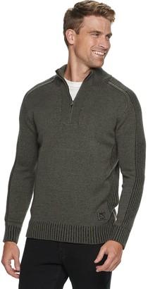 X-Ray Men's 1/4 Zip Mixed Yarns Sweaters
