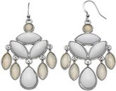 Nickel Free White Faceted Stone Chandelier Earrings