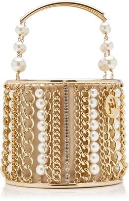 Rosantica Olivia Embellished Brass Bucket Bag