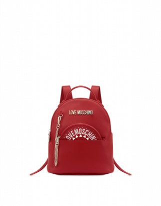 Love Moschino Backpack With Clutch Woman Red Size U It - (one Size Us)