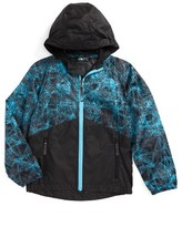 The North Face Boy's 'Flurry' Colorblock Hooded Water Resistant Wind Jacket
