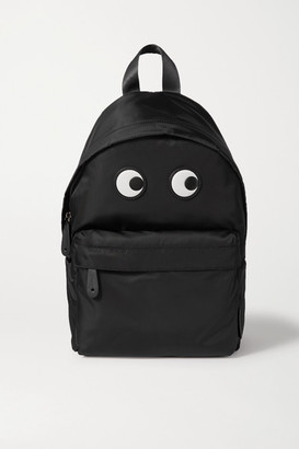 Anya Hindmarch Eyes Leather-trimmed Shell Backpack - Black