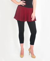 Magid Maroon Circle Skirt Leggings - Plus Too