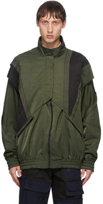 Feng Chen Wang Green Nylon Jacket