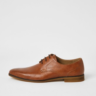 River Island Brown lace-up derby shoes