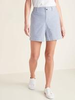 Old Navy Mid-Rise Everyday Seersucker Shorts for Women - 7-inch inseam