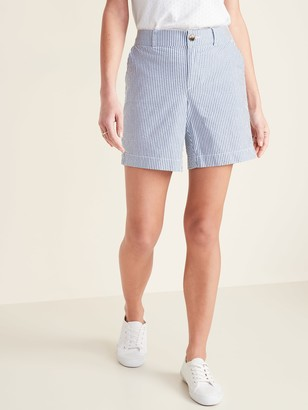 Old Navy Mid-Rise Everyday Seersucker Shorts for Women - 7-inch inseam
