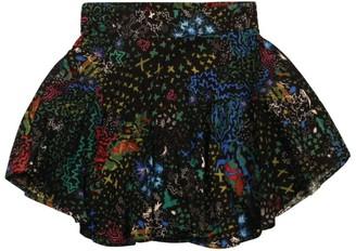 Zadig & Voltaire Glam-Rock Print Asymmetric Skirt (6-16 Years)