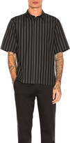 Robert Geller Over Dyed Stripe Shirt in Black. - size 50 (also in )